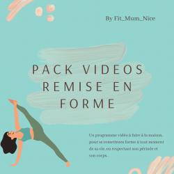 PACK VIDEO REMISE EN FORME A LA MAISON